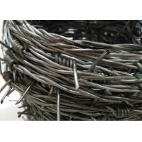 Buy cheap Hot Dipped Double Galvanized Barbed Wire With 4 Points For Military Base from wholesalers