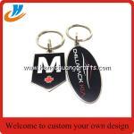 Buy cheap 40-50mm Both side metal key chain/key ring with custom logo design/hard enamel process from wholesalers