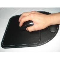 Buy cheap PVC / PU Portable Electronic Pouches , Mouse Pad with Wrist Rest Black from wholesalers