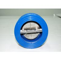Buy cheap Wafer Type Swing Check Valve CF8 CF8M / Dual Disc Check Valve 304 316 Disc from wholesalers