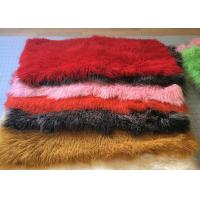 Buy cheap Dyed Color Soft Skin Mongolian Sheepskin Rug 60 *120cm For Garment Shoes from wholesalers