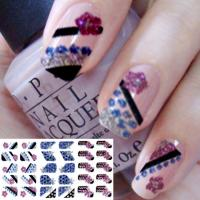Buy cheap Colorful nail designs Fashion 3D Glitter Full Nail Sticker, Art Decals by EN-71, CA Pro 65 from wholesalers