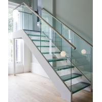 Buy cheap Glass Straight Staircases with Laminated Tempered Glass Treads from wholesalers