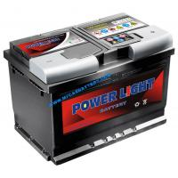 Buy cheap POWER LIGHT 12V 80 AH MF Car Battery , Sealed Maintenance Free Battery SMF58043 from wholesalers