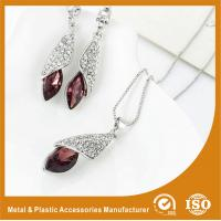 Buy cheap Customized Jewelry Silver Plated Two-Piece Zinc Alloy Jewelry Sets With Synthetic CZ from wholesalers