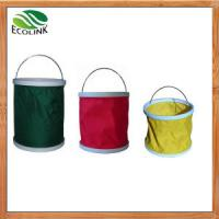 Buy cheap Chinese Folding Bucket for Eco Garden Products with Oxford Cloth, Plastic, Electroplating from wholesalers