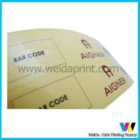 Buy cheap Yellow Base Transparent PVC Custom Sticker Printing with Glossy Surface Finish from wholesalers