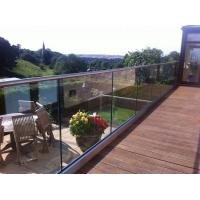 Buy cheap U channel frameless glass deck railing from wholesalers