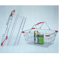 Buy cheap Chrome Plated Supermarket Wire Baskets Wire Shopping Basket For Grocery Store product