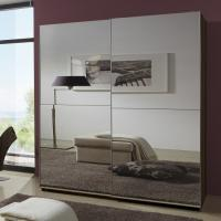 Buy cheap Simple Space Saving Melamine Bedroom Furniture Modern Luxury MDF With Two Full Mirror from wholesalers
