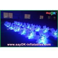 Buy cheap 8m Colorful Inflatable Lighting Wedding Flower Chain Decoration In Stage from wholesalers