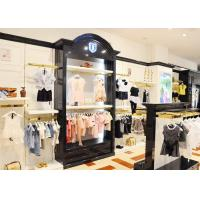 Buy cheap Durable Kids Retail Clothing Fixtures Garment Shop Wood Adjustable Shelves from wholesalers