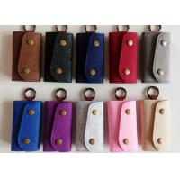 Buy cheap Accept OEM 43 Colors Felt Key Wallet Business Gifts Key Holder with 6 Hooks from wholesalers