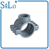 Buy cheap 2 / 3 Inch PVC Water Pipe Fittings , Heat Insulation Grey Upvc Saddle Clamps from wholesalers