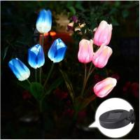 Buy cheap Outdoor Solar Garden Stake Lights-Solar Powered Lights With Tulip Flowers,Multi-color Changing LED Solar Stake Lights from wholesalers