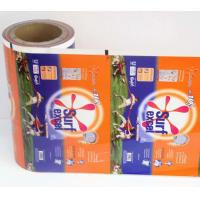 Buy cheap Printed Detergent Powder Plastic Roll Film for small Sachets , Laundry sachets packaging in Roll film product