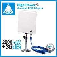 Buy cheap High power 2000mW Outdoor 36dBi wireless usb adapter,150Mbps,Ralink 3070,11n,10m usb cable from wholesalers