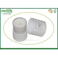 Buy cheap White Card Cardboard Canister Packaging , Custom Printed Candle Boxes from wholesalers