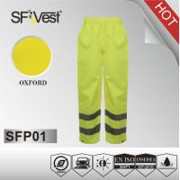 Buy cheap High visible Reflective Safety Pants with pu coating warterproof M-5XL product