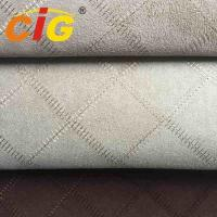 Buy cheap 100% Polyester Embroidery Suede Fabric For Seat Cover 150cm width 130gsm from wholesalers