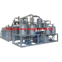 Buy cheap engine oil refinery and motor oil distiller system from wholesalers
