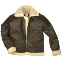 Buy cheap Short Fur Lined Leather Jacket product
