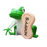 Buy cheap Outdoor advertising characters giant inflatable frog cartoon characters from wholesalers
