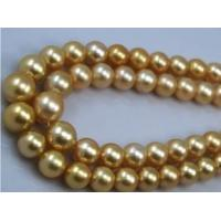 Buy cheap wholesale 16 10-11.5mm AA golden south sea pearl strand from wholesalers