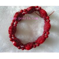 Buy cheap Wonderful 7.5inch 15*20mm red coral bracelet from wholesalers