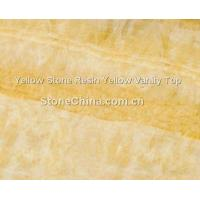 Buy cheap Yellow Stone Resin Yellow Vanity Top from wholesalers
