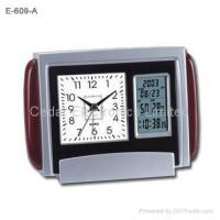 Buy cheap Dual Display Wooden Desk Clock with LCD Calendar from wholesalers