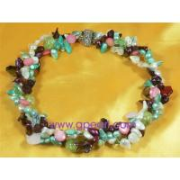 Buy cheap twisted blister pearl necklace with shell jewelry from wholesalers