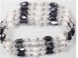 Buy cheap 6-7mm white rice freshwater pearl wrap bracelet from wholesalers