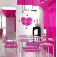 Buy cheap Vinyl Wall Sticker Clock 10A054 Heart Wall Decoration from wholesalers