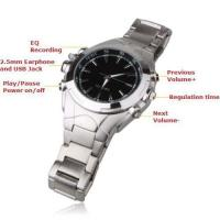 Buy cheap 4GB Watch MP3 Player with Voice Recording from wholesalers