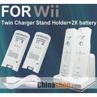 Buy cheap Video Games DUAL CHARGER FOR WII REMOTE + 2 X BATTERY TWIN DOCK from wholesalers