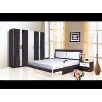 Buy cheap Black and white oak wood king queen modern sleigh bedroom sets supplier from wholesalers
