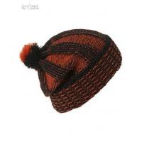 Buy cheap orange and black beanie hat from wholesalers