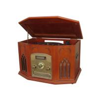 Buy cheap NOSTALGIA WOODEN MUSIC CENTER Nostalgia Wooden Music Center with Turntable, CD Recorder (CD-MP3 disc format support), AM/FM Radio, Cassette Player, Line out & Aux in 6in1 function Model:E-6920 from wholesalers