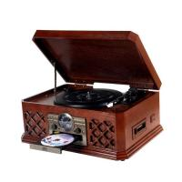 Buy cheap NOSTALGIA WOODEN MUSIC CENTER Nostalgia Wooden Music Center with Turntable, CD, AM/FM Radio, Cassette, Aux-in and USB to PC recording function Model:E-6280 from wholesalers