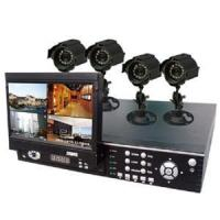 Buy cheap 4ch H.264 network DVR with indash 7 LCD monitor with 4*SONY CCD outdoor cameras from wholesalers