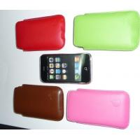 Buy cheap Mobile Phone Leather Case Cover  Slim Leather Case Pouch FOR APPLE IPHONE 3G 3GS from wholesalers