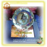 Buy cheap SYW0954 Crystal gifts with hindu god photo & LED light from wholesalers