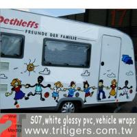 Buy cheap Solvent Media S07-white glossy pvc , vehicle wraps product