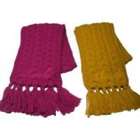 Buy cheap chunky yarn knitted cable scarf from wholesalers
