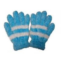 Buy cheap feather yarn knitted magic glove from wholesalers