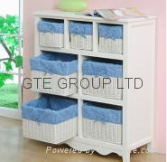 Buy cheap Solid wood Storage Cabinet with Basket product