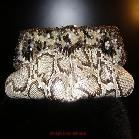 Buy cheap View Details Ravishing Black Python Skin Handbag Purse from wholesalers