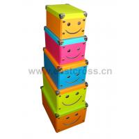 Buy cheap Smiling Face Paper Foldable Storage Box product