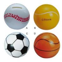 Buy cheap Coin Bank In Ball ShapeBA71 Dia.10.3x9.3cm from wholesalers